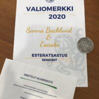 Sanna and Escada win the 'Valiomerkki' for season 2020